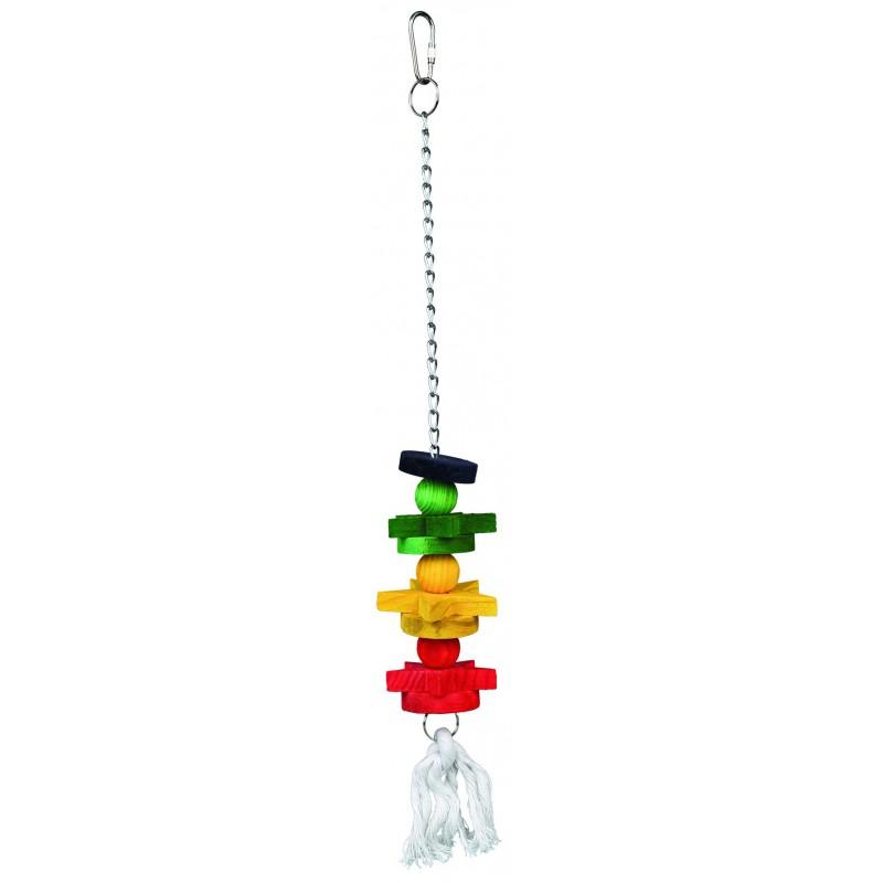 Vogelspeelgoed - Houten speelgoed gekleurd