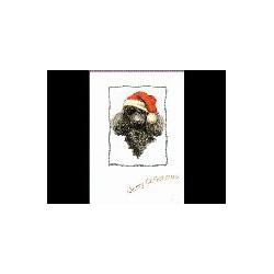 Poedel Kerst Simply kaart