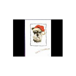 Schnauzer Kerst Simply kaart