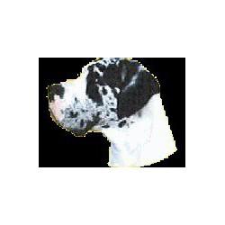 Duitse Dog Sticker 14cm