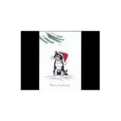 Zwart-witte kat Kerst Kritter