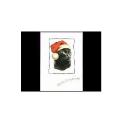 Zwarte kat Kerst Simply