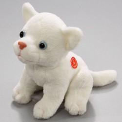 Witte kat pluche met geluid