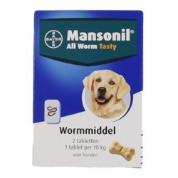 Mansonil all worm Dog Tasty...