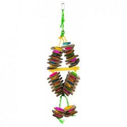 Vogelspeelgoed - Houten Speelgoed aan Sisaltouw