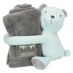 Junior knuffelset grijs/mint
