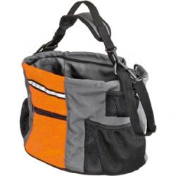 Fietsmand nylon oranje/grijs