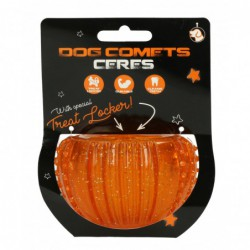Dog Comets Ceres with treat...
