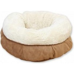 AFP lambswool donut bed beige