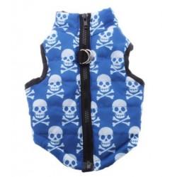Winterjasje Skull blauw OP...