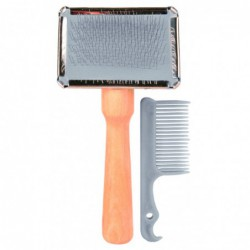 Kammen en borstels - Slicker hout met reinigingskam