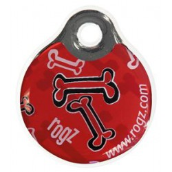 Rogz ID Tag red bone