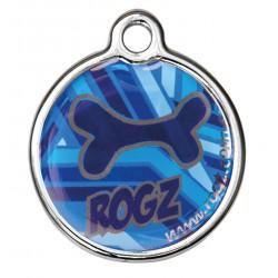 Rogz ID Tag metaal navy zen