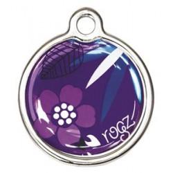 Rogz ID Tag metaal purple...