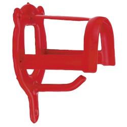 Halsterhouder metaal rood