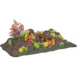 Radha rots met plant