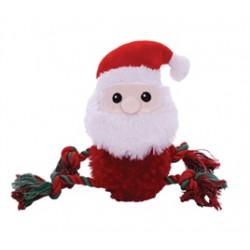 Fluffy rope kerstman 28cm