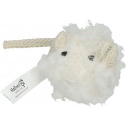 Wooly Luxury Muis wit 18cm