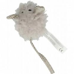 Wooly Luxury Muis grijs 18cm